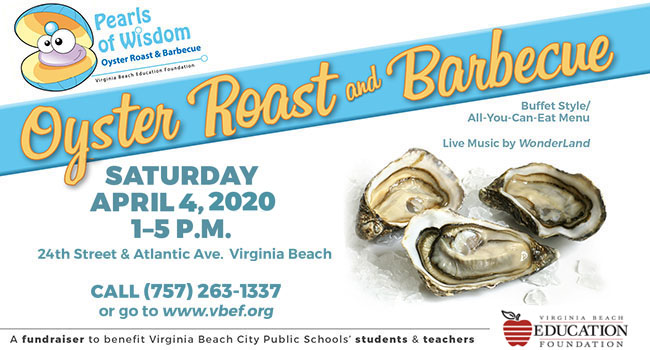 Pearls of Wisdom Oyster Roast & Barbecue, Saturday, April 4, 2020, 1-5 p.m.